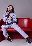 Женский теплый спортивный костюм плащевка стеганная р 42-46