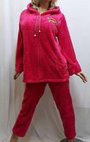 Домашняя одежда для женщин, Женская махровая пижама на змейке. Размеры от 42 до 56, фото 3