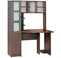 Компьютерный стол Пирамида с надстройкой. Стол для ПК в кабинет и офис