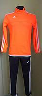 Костюм спортивный взрослый тренировочный оранжевый