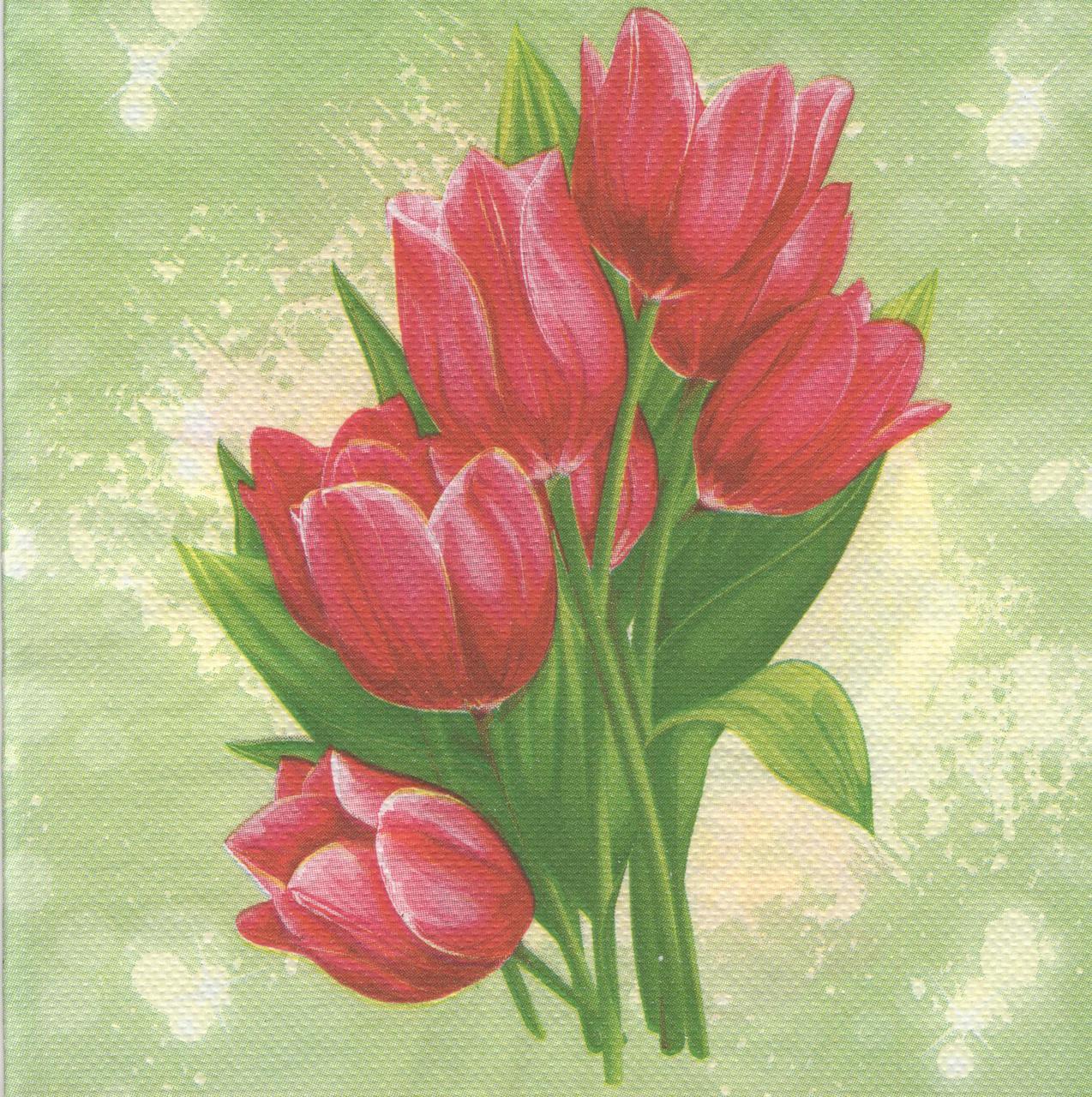 Салфетки для декупажа Тюльпаны 3962