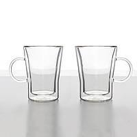 Комплект кофейных чашек с двойным дном 350 мл