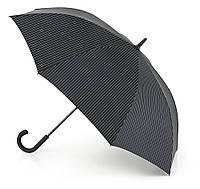 Мужской зонт-трость Fulton Knightsbridge-2 G451 Black Steel черный с серым