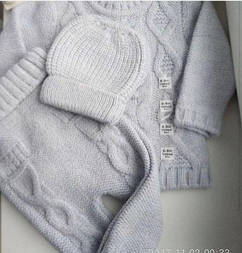 Вязаный костюмчик для малышей, фото 2