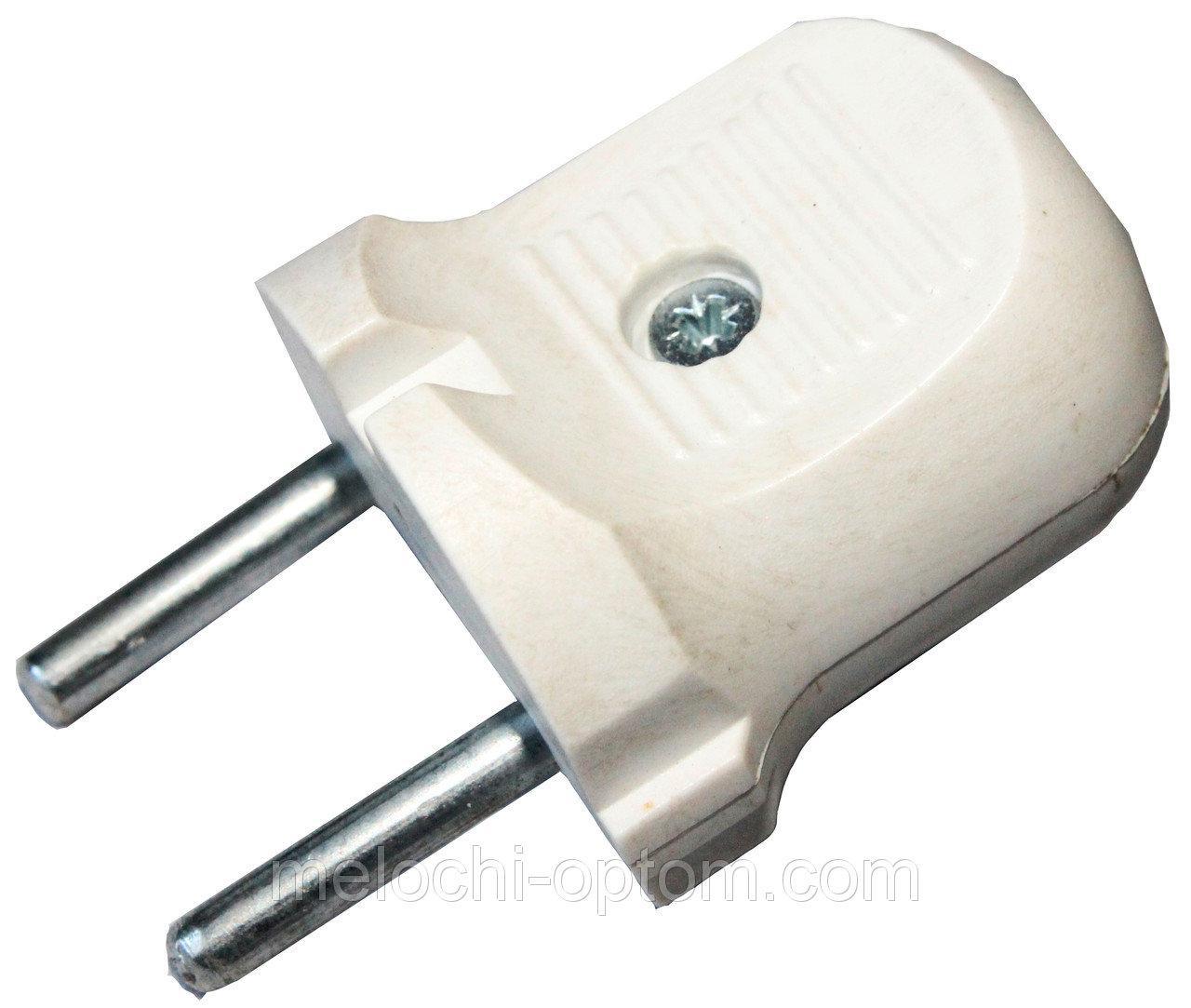 Электровилка EMP 6А ДЗВІНОЧОК вилка електрична, біла