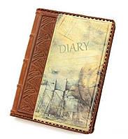 Кожаный ежедневник ручной работы на ремне формата А5