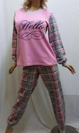 Пижама женская байковая с манжетами, от 44 до 54 р-ра, Харьков, фото 2