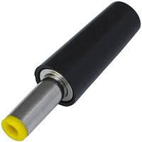Штекер питания DC, 5,5\2,1мм (жёлтый), длина-14мм, корпус бакелит