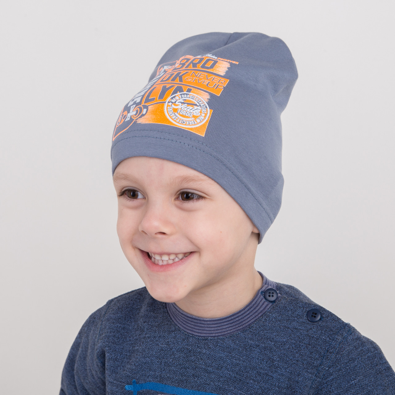 Хлопковая шапка на мальчика сезона весна 2018 оптом - Bro - Артикул 2196