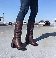 Женские кожаные сапоги