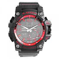 Часы наручные мужские Casio G-Shok GPW-1000 Red/Красные в подарочной упаковке