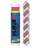 Герметик нейтральный силикон SILIRUB 2 Soudal 600 мл., белый