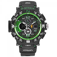 Часы наручные мужские Casio G-Shok GPW-2000 Green/Зеленые подарочной упаковке