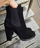 Женские ботильоны на каблуке с резиночками