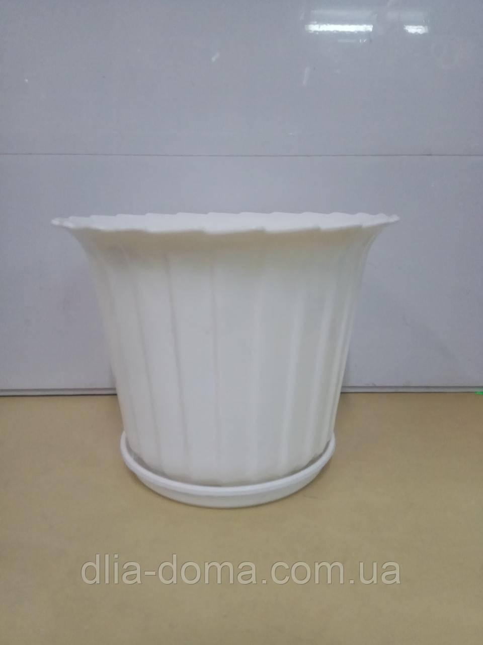 Горшок для цветов пластиковый тюльпан д 210мм