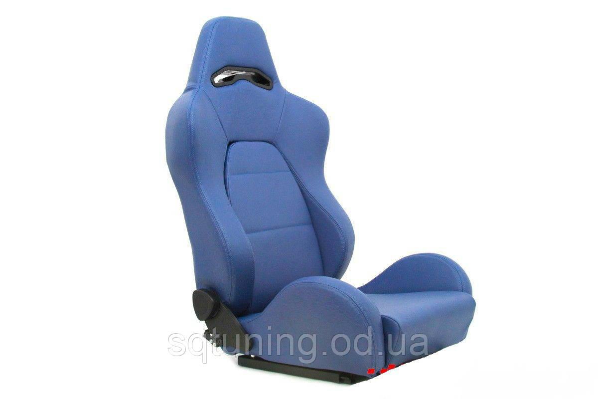 Спортивное сиденье DRAGO (Синее, Эко-кожа)