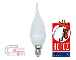 "Лампа SMD LED 4W свічка на вітрі  Е14 4200K-6400K              ""CRAFT-4"""