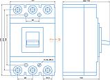 Автоматичний вимикач ВА 77-1-400 200А, фото 2