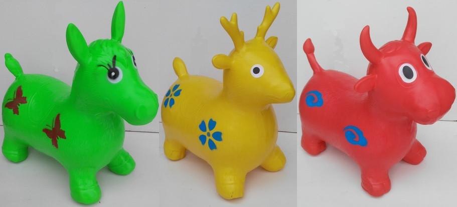 Прыгун резиновый Конь, Ослик 60*50*30см
