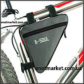 """Велосумка """"B-SOUL"""" треугольная серого цвета"""