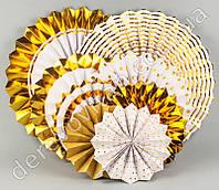 """Гармошки декоративные, набор """"Gold/Золото"""", 8 штук"""