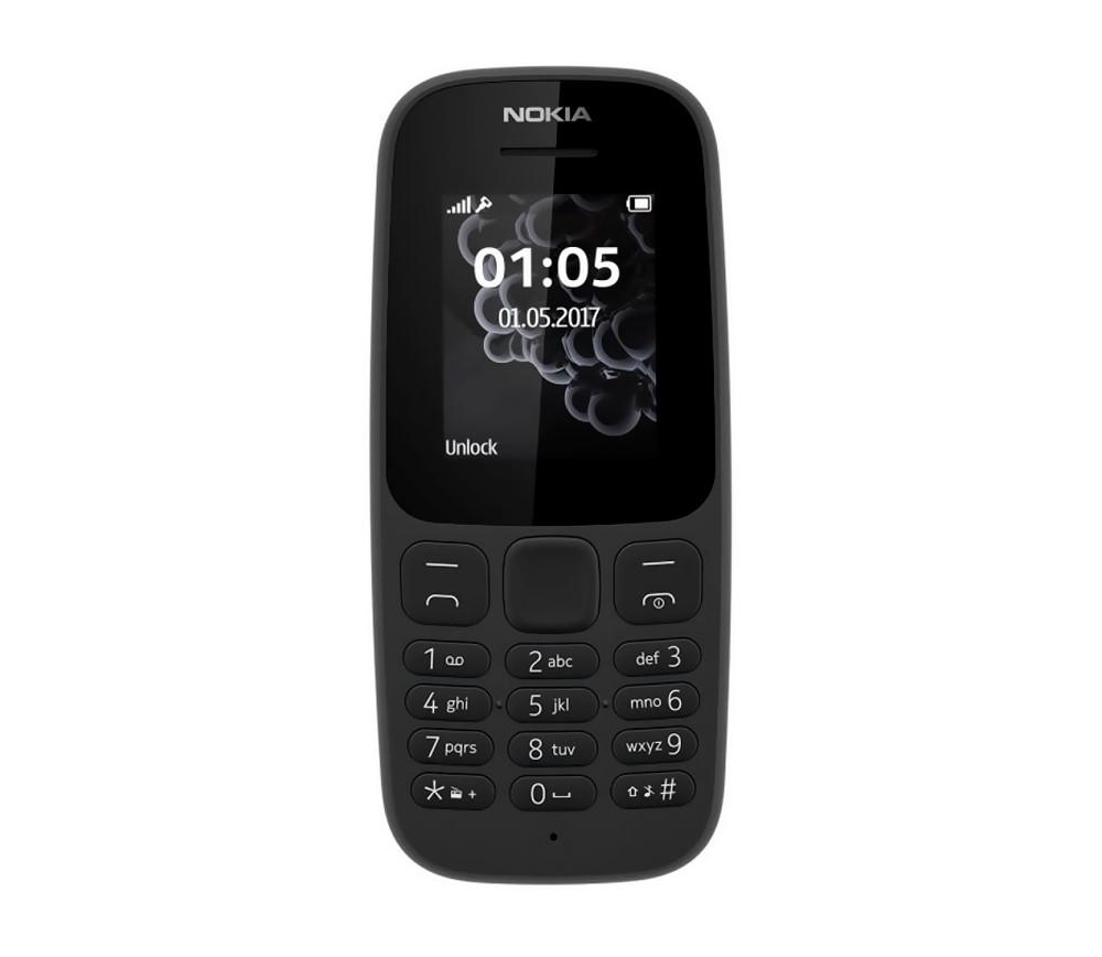 Мобильный телефон Nokia 105 Duos New Black на 2 сим-карты