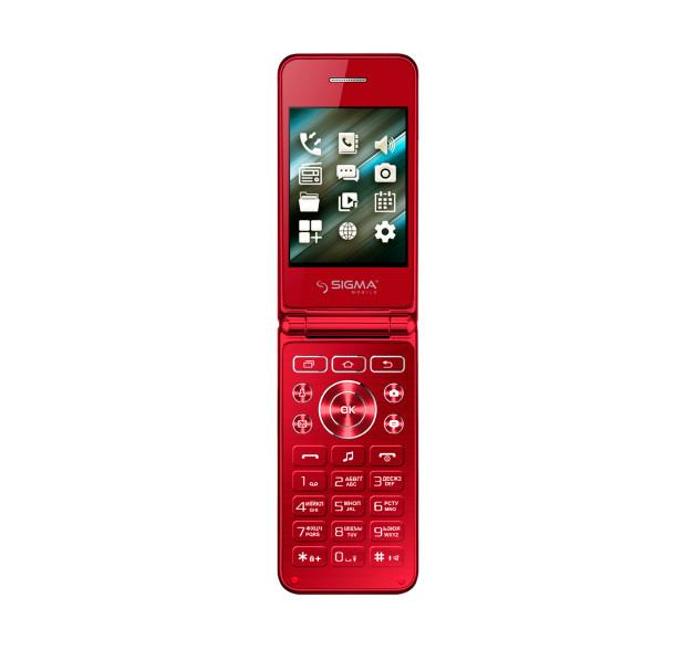Мобильный телефон Sigma mobile X-style 28 Flip Red на 2 сим-карты