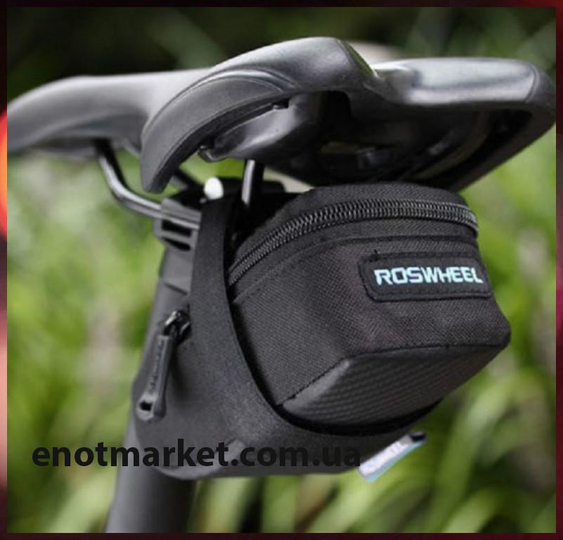 """Велосумка """"ROSWHEEL"""" подседельная черного цвета"""