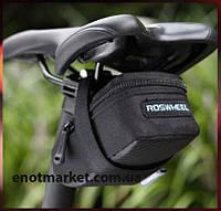 """Велосумка """"ROSWHEEL"""" подседельная черного цвета, фото 1"""