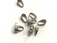 Зажим для подвески, Держатель для кулона, Цвет: Металл, 7 мм x 4 мм