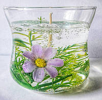 Свеча  гелевая  с цветами