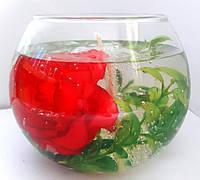 Свеча с цветком розы