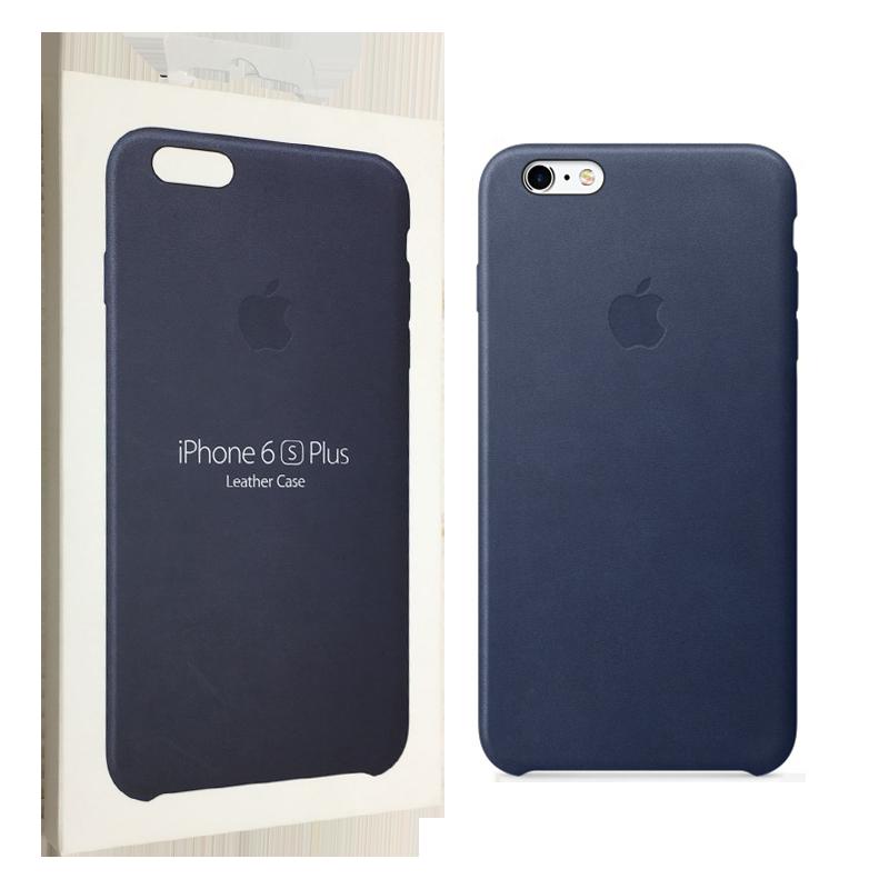 Чехол Apple для iPhone 6/6s Plus Leather Case Midnight Blue (MKXD2ZM/A)