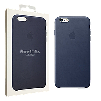 Чехол Apple для iPhone 6/6s Plus Leather Case Midnight Blue (MKXD2ZM/A), фото 1