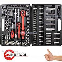 Купить набор инструментов для авто | 108 инструментов в кейсе | INTERTOOL ET-6108 |