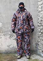 Рыбацкий зимний костюм Лес 3д, толстый слой синтипона, водонепроницаемая мембрана алова, -30с комфорт
