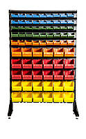 Торговый стеллаж для мастерской с ящиками Ахтырка