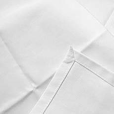 Скатертина 130х130см Біла з тканини Р-195 на стіл 80x80 см Квадратна, фото 3