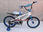Детский велосипед Crosser Sports 18 дюймов бело-синий, фото 2