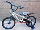 Детский велосипед Crosser Sports 18 дюймов бело-синий, фото 3