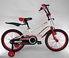 Детский велосипед Crosser Sports 18 дюймов бело-красный, фото 3