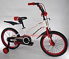 Детский велосипед Crosser Sports 18 дюймов бело-красный, фото 4