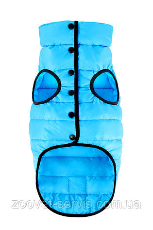 Куртка одностороння для собак Airy Vest One S 40 голубая, фото 2