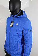 Весення куртка Адидас голубой цвет , фото 1