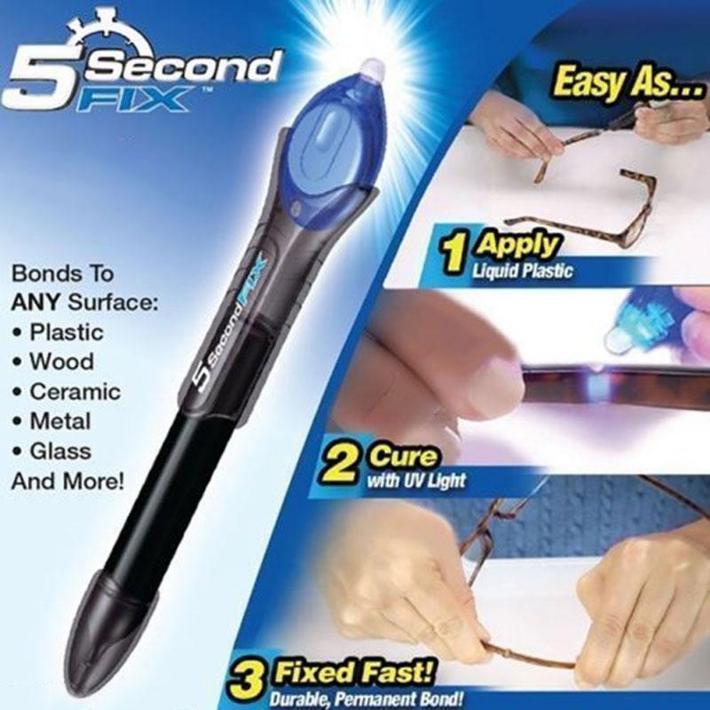 Лазерный клей, ультрафиолетовый клей, жидкий фиксатор,горячий клей 5 Second Fix