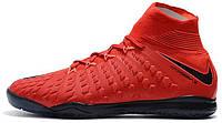 Футзалки Nike Hupervenom Найк с носком красные