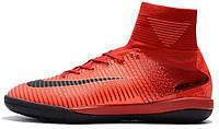 Футзалки Nike Mercurial Superfly V Найк с носком красные