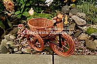 Велисопед подставка для цветка плетеная, фото 1