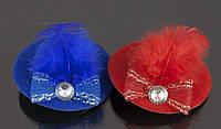 Заколка зажим шляпка микс цветов