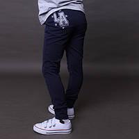 Мега стильные спортивные штаны  синие р.104-128